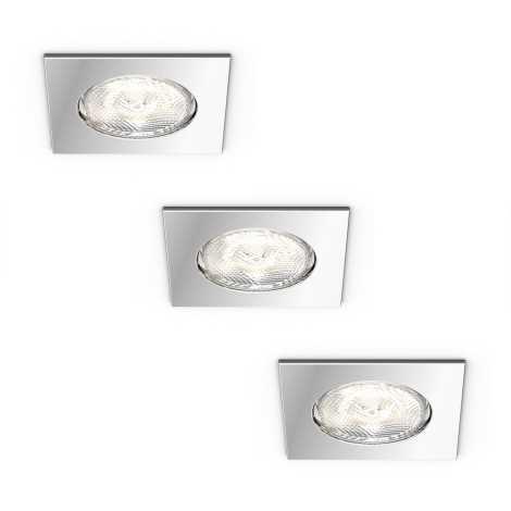 Philips 59007/11/P0 - SET 3x Corp de iluminat LED tavan fals DREAMINESS 3xLED/4,5W