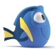 Philips 71768/90/16 - Lampă copii DISNEY FINDING DORY LED/2xAAA