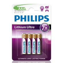 Philips FR03LB4A/10 - 4 ks Baterie cu litiu AAA LITHIUM ULTRA 1,5V