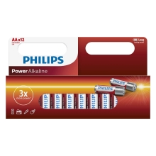 Philips LR6P12W/10 - 12 buc Baterie alcalina AA POWER ALKALINE 1,5V