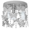 Plafoniera copii ELZA butterflies 3xE27/60W/230V gri