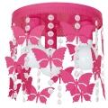 Plafoniera copii ELZA butterflies 3xE27/60W/230V roz inchis