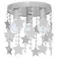 Plafoniera copii ELZA stars 3xE27/60W/230V gri