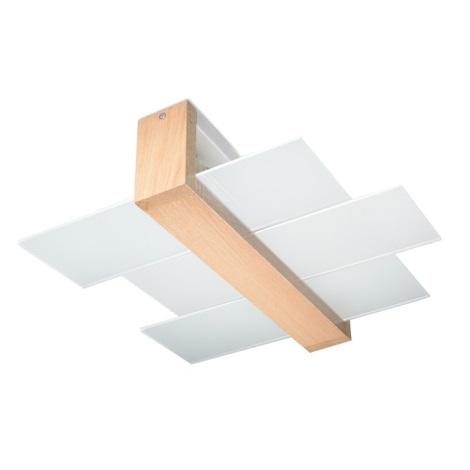 Plafonieră FENIKS 2 2xE27/60W/230V natural lemn