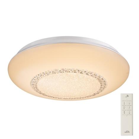 Plafonieră LED de cristal dimabilă Globo 41319-40 MARTINA LED/40W/230V + telecomandă