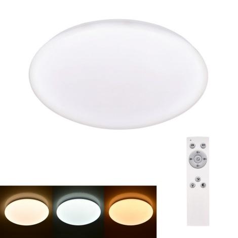 Plafonieră LED dimabilă Brilagi MILKY LED/24W/230V + telecomandă 3000K-6500K