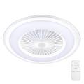 Plafonieră LED dimabilă cu ventilator RONDA LED/65W/230V 3000-6500K albă Brilagi