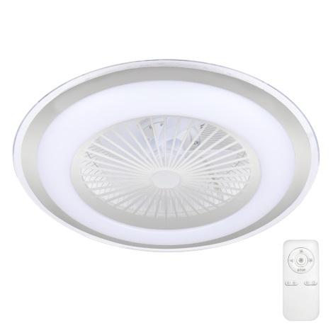 Plafonieră LED dimabilă cu ventilator RONDA LED/65W/230V 3000-6500K argintie Brilagi