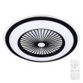 Plafonieră LED dimabilă cu ventilator RONDA LED/65W/230V 3000-6500K neagră Brilagi