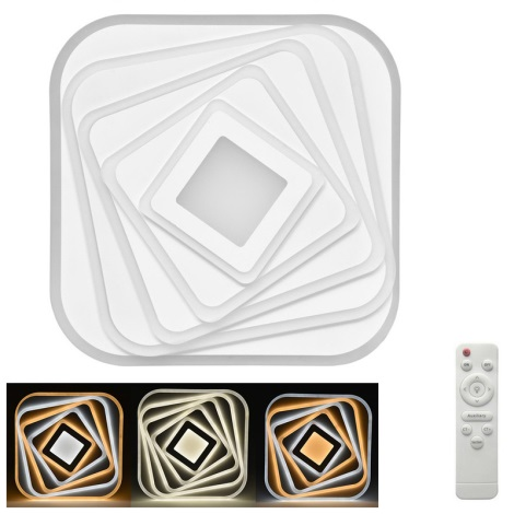 Plafonieră LED dimabilă MODERNA LED/210W/230V + telecomandă