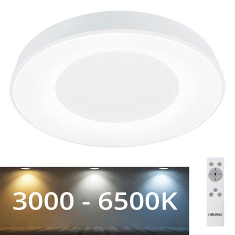 Plafonieră LED dimabilă Rabalux LED/38W/230V albă + telecomandă 3000-6500K