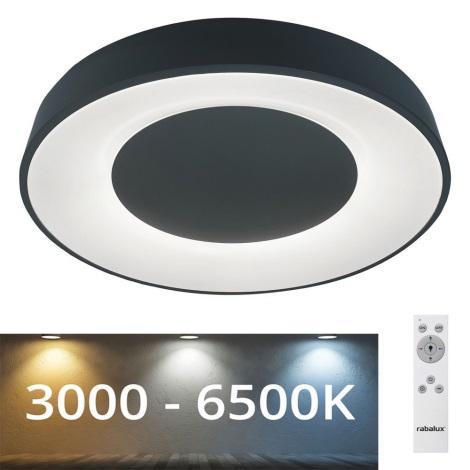 Plafonieră LED dimabilă Rabalux LED/38W/230V neagră + telecomandă 3000-6500K