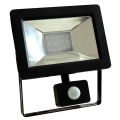 Proiector LED cu senzor NOCTIS 2 SMD LED/10W/230V IP44 630lm negru