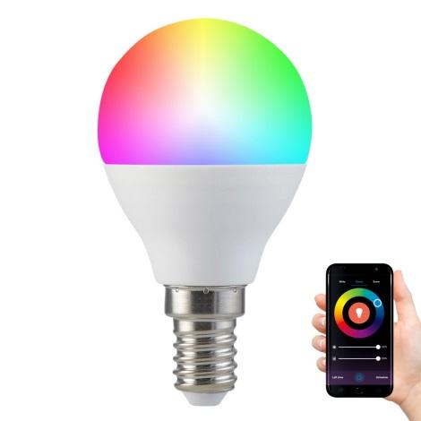 RGB LED Bec dimmabil G45 E14/5,5W/230V 2700-6500K Wi-fi Tuya