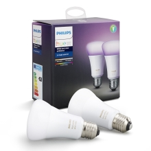 SADA 2x LED RGB Bec dimmabil Philips HUE WHITE AND COLOR AMBIANCE E27/10W/230V