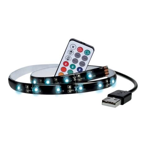 SET 2x Bandă LED RGB pentru TV cu telecomandă LED/USB 50cm