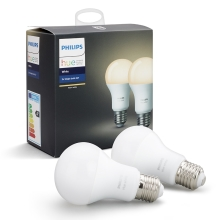 SET 2x Bec dimmabil LED Philips HUE WHITE E27/9W/230V
