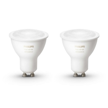 SET 2x Bec LED dimmabil Philips HUE WHITE AMBIANCE 2xGU10/5,5W - 8718696671184