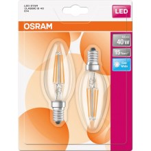 SET 2x Bec LED E14/4W/230V 4000K - Osram