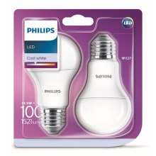 SET 2x Bec LED Philips A60 E27/12,5W/230V