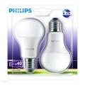 SET 2x Bec LED Philips E27/6W/230V 2700K
