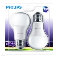 SET 2x Bec LED Philips E27/6W/230V