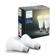 SET 2x LED Bec dimmabil Philips HUE WHITE AMBIANCE E27/9,5W/230V