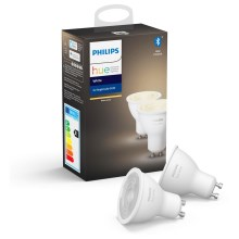 SET 2x LED Bec dimmabil Philips HUE WHITE GU10/5,2W/230V 2700K