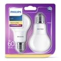 SET 2x LED Bec Philips E27/8W/230V 2700K
