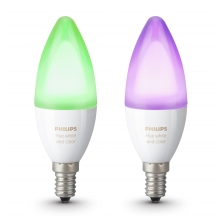 SET 2x LED RGB Bec dimmabil Philips HUE WHITE AND COLOR AMBIANCE E14/6W/230V