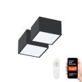 Set 2x plafonieră LED Immax Neo 07074L-15BD CANTO 2xLED/12W/230V ZigBee Tuya