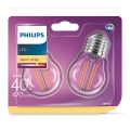 SET 2xBec LED VINTAGE E27/4W/230V 2700K - Philips