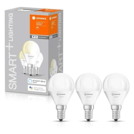 SET 3x Bec de iluminat cu LED SMART + E14/5W/230V 2.700K wi-fi - Ledvance