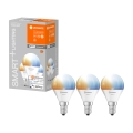 SET 3x Bec de iluminat cu LED SMART + E14/5W/230V 2700K-6500K wi-fi - Ledvance
