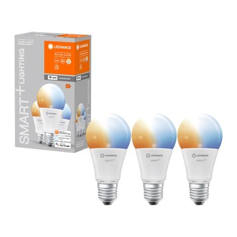 SET 3x Bec de iluminat cu LED SMART + E27/14W/230V 2700K-6500K wi-fi - Ledvance
