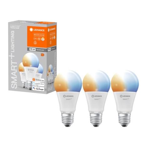 SET 3x Bec de iluminat cu LED SMART + E27/9,5W/230V 2700K-6500K wi-fi - Ledvance
