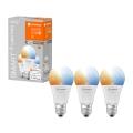 SET 3x Bec de iluminat cu LED SMART + E27/9W/230V 2700K-6500K wi-fi - Ledvance