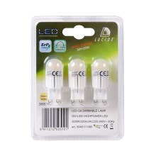 SET 3x Bec LED dimmabil G9/3W/230V - Lucide 50461/13/60
