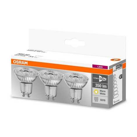 SET 3x Bec LED PAR16 GU10/4,3W/230V 2700K - Osram
