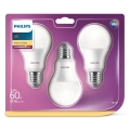 SET 3x Bec LED Philips A60 E27/8,5W/230V