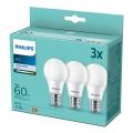 SET 3x bec LED Philips A60 E27/9W/230V 4000K