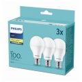 SET 3x Bec LED Philips A67 E27/14W/230V 2700K