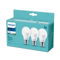 Set 3x Bec LED Philips E27/7W/230V 3000K