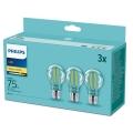 SET 3x Bec LED Philips E27/8,5W/230V 2700K
