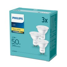 SET 3x Bec LED Philips GU10/4,7W/230V