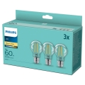 SET 3x Bec LED VINTAGE Philips A60 E27/7W/230V 2700K