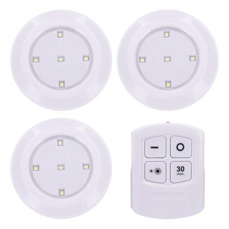SET 3x Lampă LED dimmabilă cu telecomandă LED/3xAAA