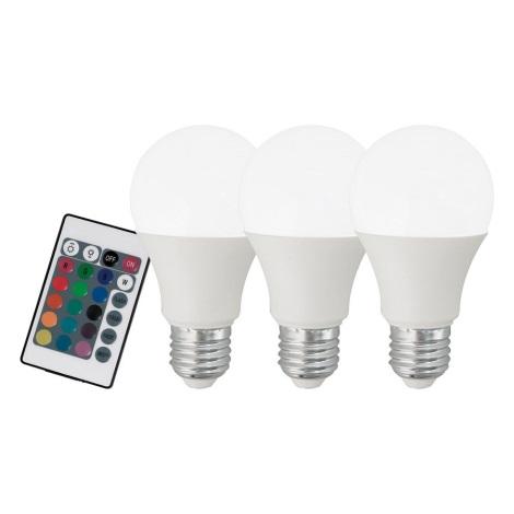SET 3x LED Bec dimmabil E27/7,5W/230V - Eglo 10681