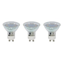 SET 3x LED Bec GU10/3W - Briloner