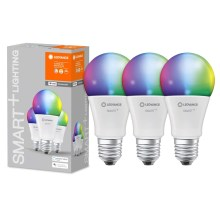 SET 3x LED RGB Dimming bec SMART + E27/14W/230V 2700K-6500K wi-fi - Ledvance